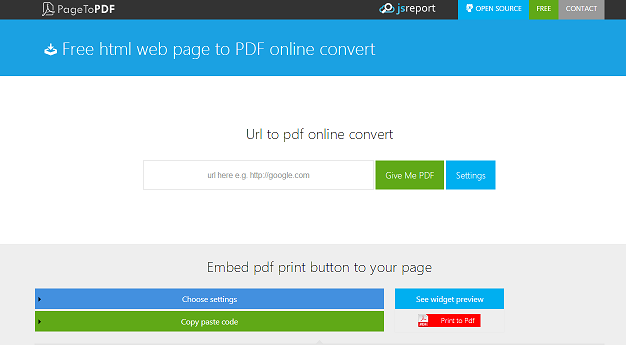 url to pdf conversion