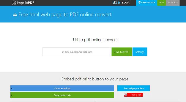 url to pdf conversion