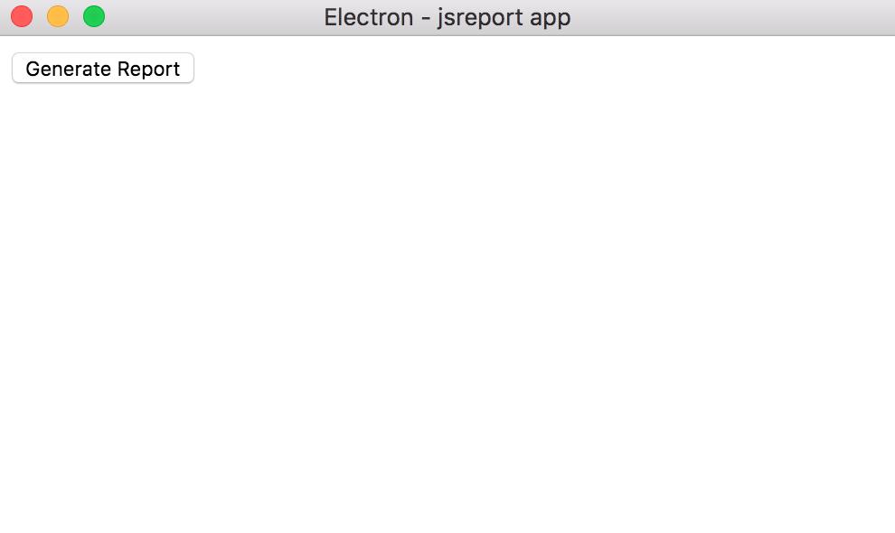empty electron app