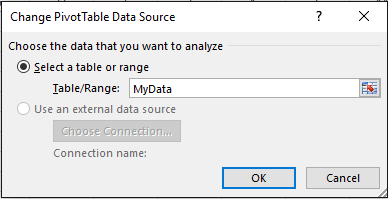 pivot select datasource